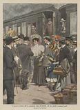 L'arrivo a Firenze dell'ex-principessa Luisa di Sassonia e di suo marito il pianista Toselli