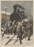 Tragica lotta fra un macchinista ferroviario russo ed una folla di operai esasperati contro di lui