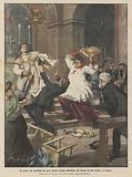 Un pazzo che accoltella un prete mentre scende dall'altare nel duomo di San Giusto, a Trieste