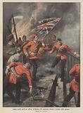 Soldati inglesi periti per salvare la bandiera del reggimento durante l'incendio della caserma