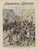 I gravi disordini di Parma, lotta sanguinosa fra soldati e scioperanti in via Nino Bixio