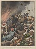 Gli eroi, il capitano di un piroscafo in fiamme muore manovrando il timone anziche abbandonare la nave