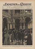 Elezioni generali politiche del 7 marzo, proclamazione dei deputati di Milano nel cortile del …