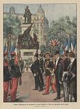 Solenne inaugurazione del monumento a Leone Gambetta, a Nizza, nel pomeriggio del 25 aprile