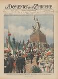 Nella ricorrenza cinquantenaria della battaglia di Melegnano, la cerimonia di domenica scorsa davanti all'Ossario