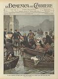La grave inondazione di Parigi, esodo forzato degli ammalati da un ospitale invaso dalle acque della Senna