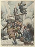 Treni sepolti sotto valanghe di neve e di sassi, e viaggiatori penosamente salvati dopo due …