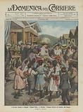 I Sovrani visitano il villaggio Regina Elena a Messina, l'omaggio floreale dei bambini alla Regina