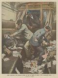 Audace aggressione d'un messaggero postale nel treno fra Napoli ed Avellino e furto d'importanti valori