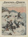 Le prime nevicate dell'inverno, alpini francesi travolti da valanghe di neve sul Moncenisio, ai confini d'Italia