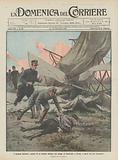 I drammi dell'aria, caduta di un biplano militare nel campo di Centocelle, a Roma, e morte dei due aeronauti