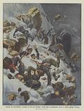 I drammi del contrabbando, tormenta di neve che travolge e uccide dieci contrabbandieri presso …