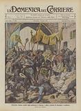 Processione religiosa assalita dagli anticlericali di Fabriano e difesa e protetta da bersaglieri e carabinieri
