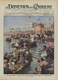 La guerra fra l'Italia e la Turchia, la fuga per mare degli abitanti di Tripoli dietro invito del …