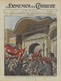 L'ora tragica per la Turchia, Enver bey si presenta davanti la Sublime Porta per intimare …
