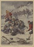 Il principe Danilo del Montenegro durante l'assalto di Brdica cade in una bocca da lupo …