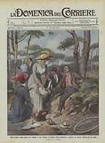 Pieta regale, nella pineta del Gombo a San Rossore la Regina Elena disinfetta e medica un operaio …