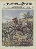 L'eroica morte del generale Torelli alla testa delle sue truppe, nel vittorioso combattimento di Tecniz