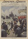 Una cerimonia commovente, funerale in mare dove affondo un sottomarino della marina inglese che …