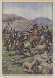 Battaglia per gli usi civili nel marchigiano, abitanti d'un paesello che assaltano i pastori …