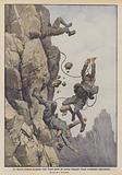 Tre alpinisti lombardi precipitano lungo l'aspra parete del torrione Magnaghi (Grigna meridionale) schiacciandosi