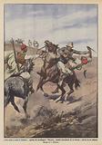 Lotta corpo a corpo in Cirenaica, capitano dei cavalleggeri Piacenza assalito ferocemente …