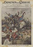 La guerra feroce, furibonda lotta fra turcos francesi ed artiglieri tedeschi intorno a Charleroi (Belgio)