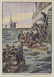 Sommergibile tedesco che nel mar d'Irlanda affonda parecchi piroscafi inglesi accordando 10 minuti …