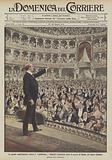 Le grandi manifestazioni contro il giolittismo, Gabriele d'Annunzio parla al popolo di Roma, nel teatro Costanzi