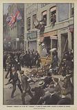 Commosso e indignato per la fine del Lusitania, il popolo di Londra assale e devasta le proprieta dei tedeschi