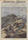 Come i nostri sfidano la morte, l'audacissima ricognizione di un ufficiale e di un volontario d'artiglieria