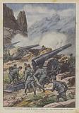 La nostra artiglieria fa scoppiare un deposito di munizioni su Anderter Alpe e batte l'artiglieria …