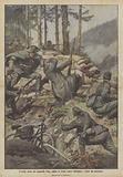 L'eroica morte del colonnello Viola, colpito in fronte mentre fulminava i nemici col moschetto