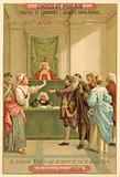 Scene from la gazza ladra (The Thieving Magpie), opera by Gioachino Rossini