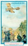 Hubert Latham flying over Berlin, September 1909