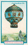 Montgolfier hot air balloon flown by Pilatre De Rozier and the Marquis d'Arlandes, 20 November 1783