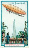 Alberto Santos-Dumont piloting his airship around the Eiffel Tower, Paris, 13 July 1901