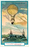 Serpette's tethered naval balloon