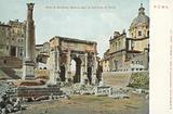 Rome, Italy, Arco Di Settimio Severo, La Colonna Di Foca