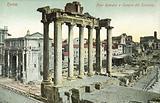 Rome, Italy, Roman Forum, Temple of Saturn