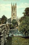 Magdalen Tower from Bridge, Oxford