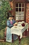 Welsh lady at Tea