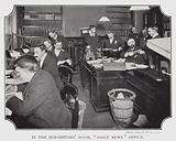 """In the Sub-Editors' Room, """"Daily News"""" Office"""