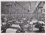 A weaving shed at the works of Messers Horrockses, Crewdson and Company, Limited