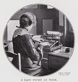 A lady typist at work