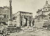 Roman Forum, Arch of Septimius Severus with the Column of Phocas