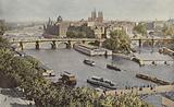 Paris, Le Pont-Neuf et l'Ile de la Cite, Vue prise du Louvre