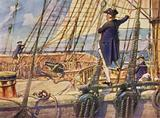Captain Nelson challenging a Midshipman to race to the masthead