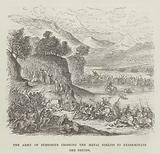 The army of Suetonius crossing the Menai Straits to exterminate the druids