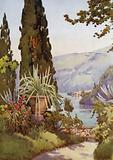 In the Garden of the Villa Arconati, Lago di Como